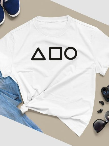 T-shirt biały GEOMETRY ZUZU