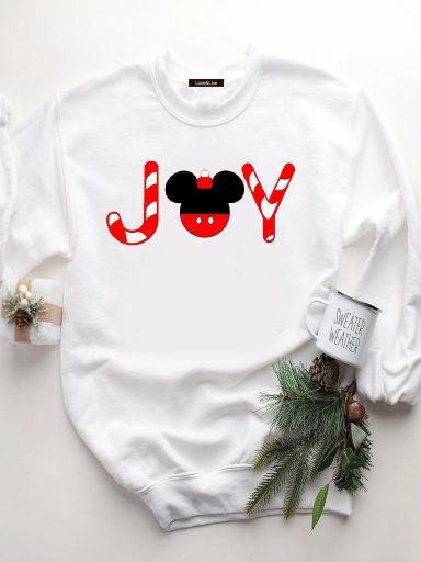 Bluza w kolorze białym MICKEY'S JOY Love&Live