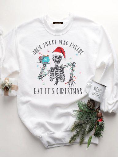Bluza w kolorze białym YEAR'S SKELETON Love&Live