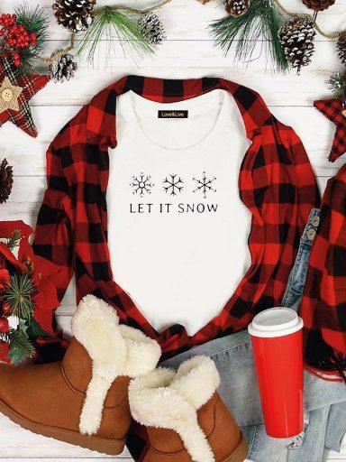 T-shirt biały SNOWFLAKES Love&Live