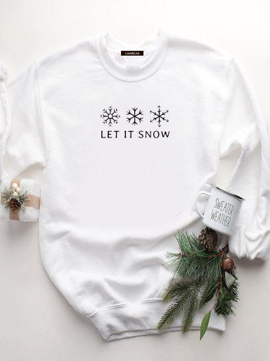 Bluza w kolorze białym SNOWFLAKES Love&Live