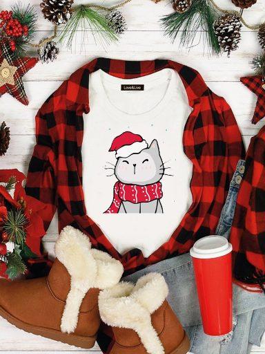 T-shirt biały WARM CAT Love&Live