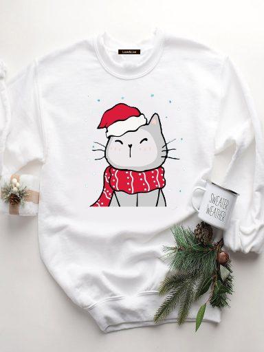 Bluza w kolorze białym WARM CAT Love&Live